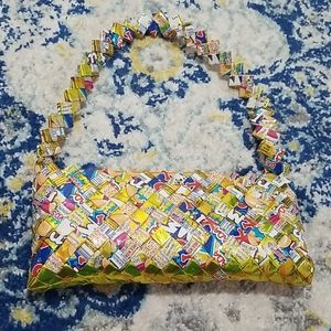Handmade Mexican Wrapper Woven Small Shoulder Bag